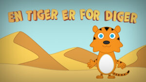 En tiger er for diger